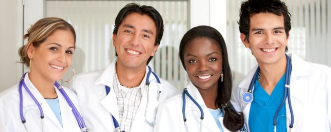 multiracial medical staff